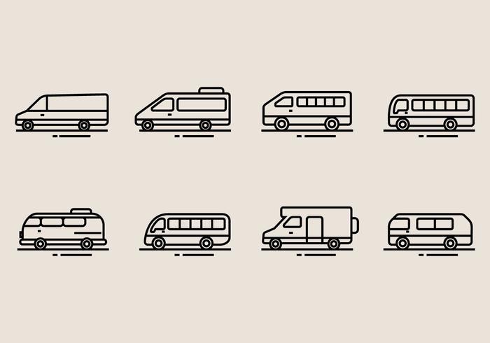 Icônes Minibus