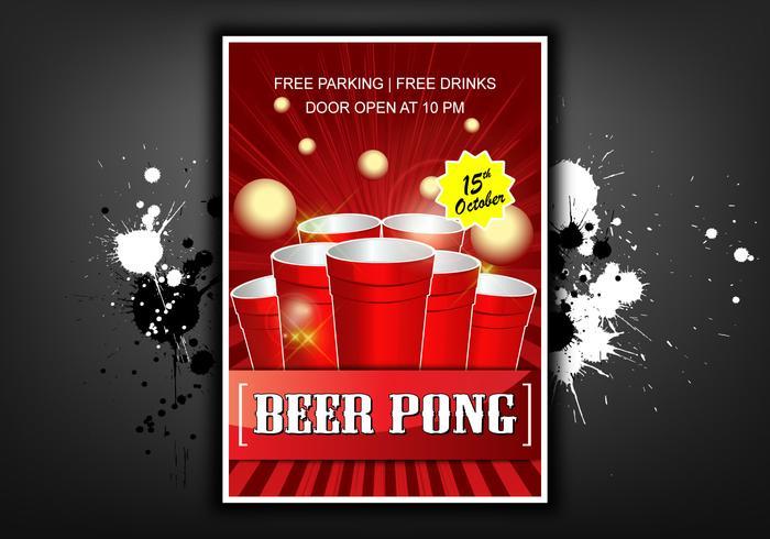 Beer pong poster illustration