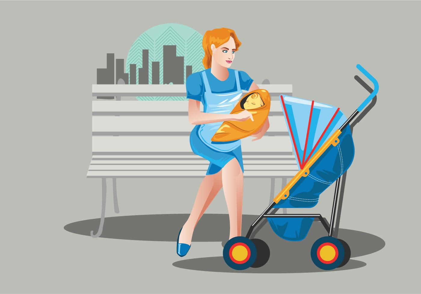 babysitter vector background