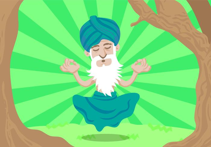 Illustration vectorielle gratuite de Guru