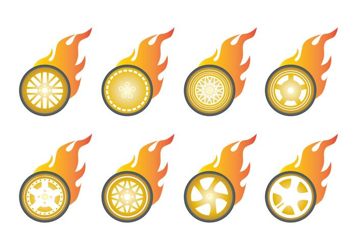 Free Burn Wheels Icon Vector