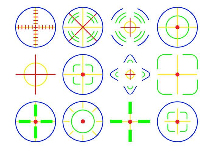 Free Neon Crosshair Icon Vector