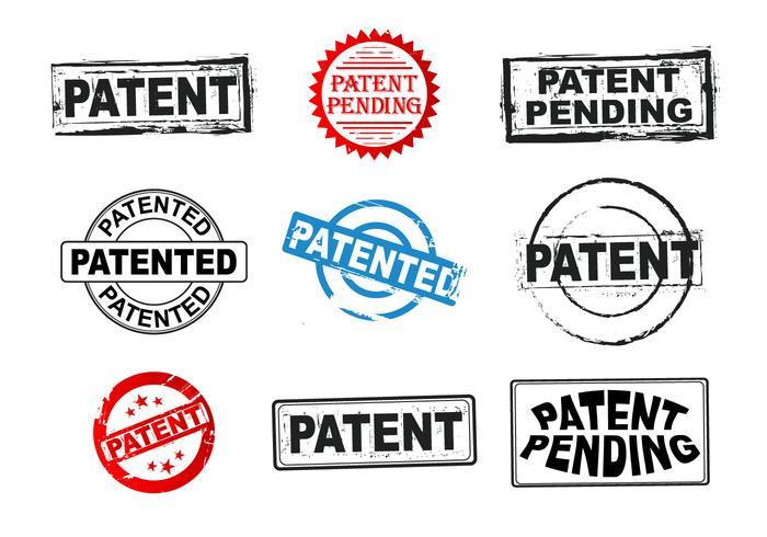 Patentgrunge frimärksvektorer
