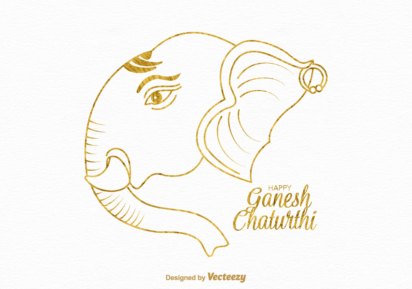 Free Happy Ganesh Chaturthi Vector Card Download Free Vector Art