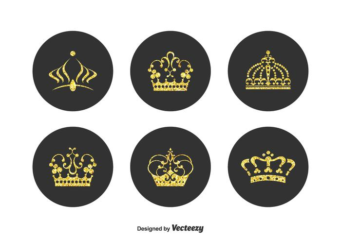 Free Golden Crown Pageant Vector Set