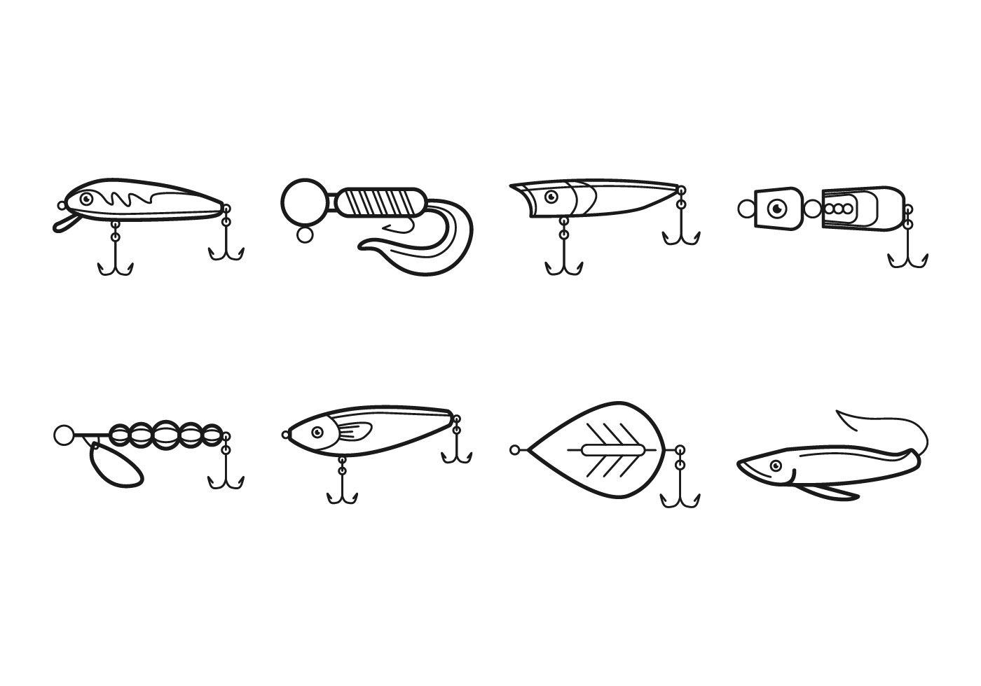 Free Fishing Tackle Icon Vector - Download Free Vectors ...