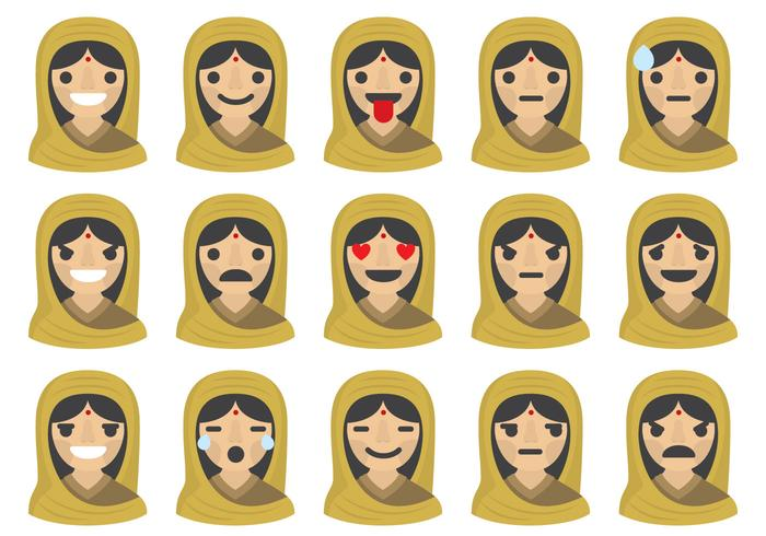Indian Woman Emoticons