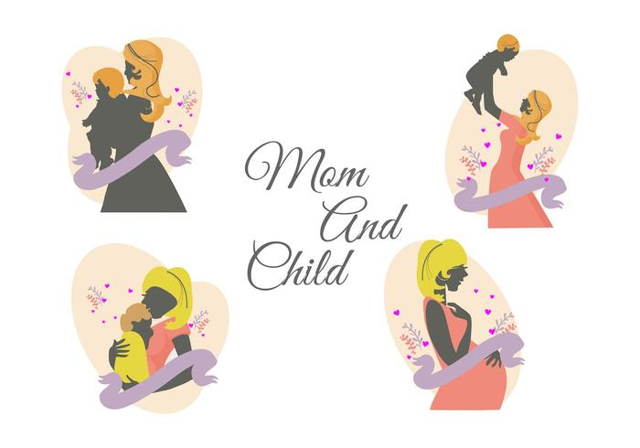 Free Mom and Child Vector