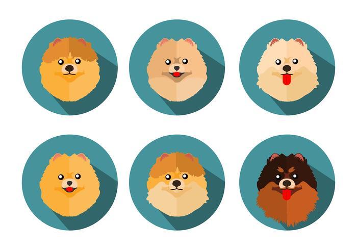 Vecteur libre d'icônes de Pomeranian