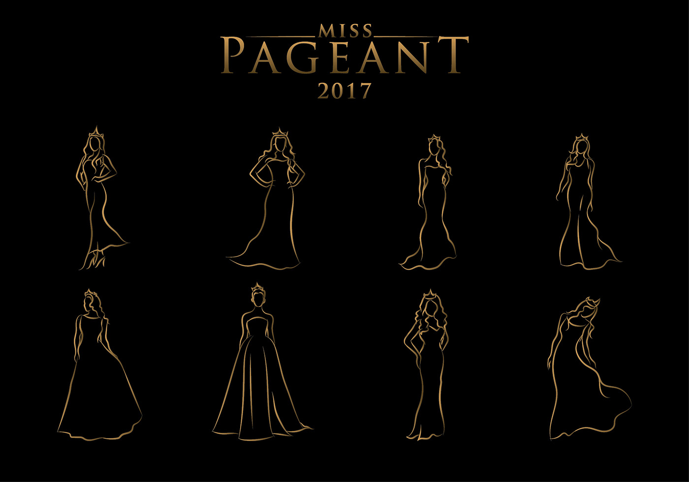 Line Art Download Free : Pageant line art free vector download
