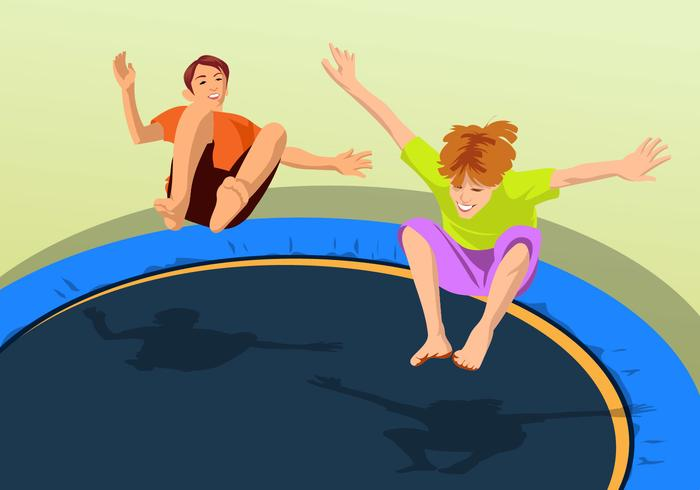 Bouncing On A Trampoline