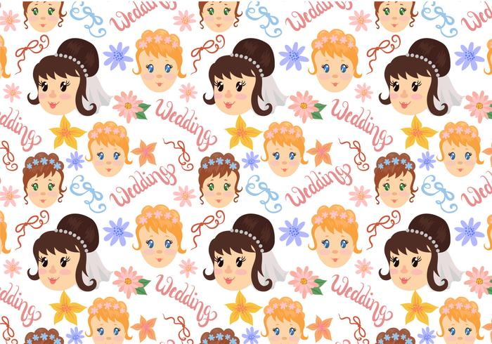 Free Wedding Pattern Vectors