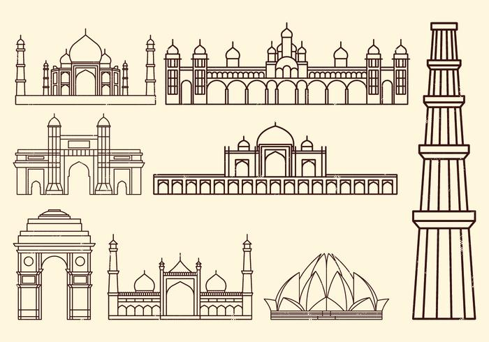 World Landmark Icon vector