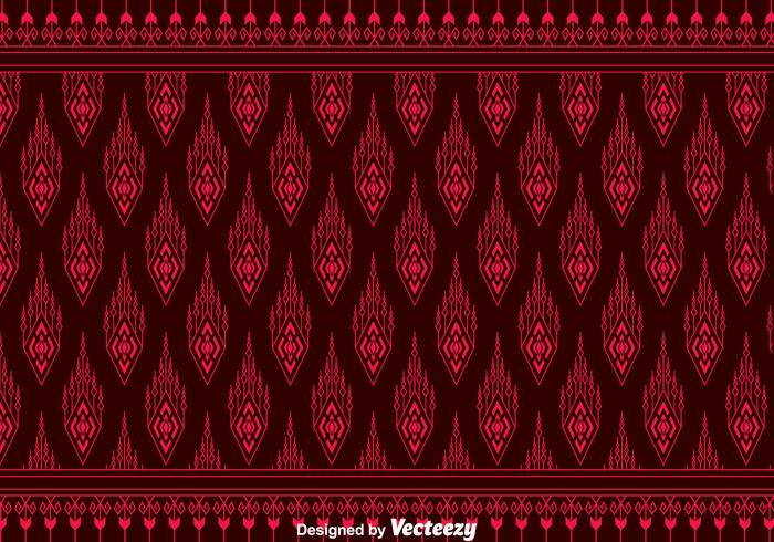 Red Songket Pattern Background