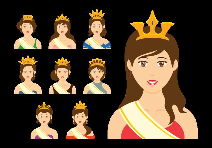 Vector da rainha da representação histórica