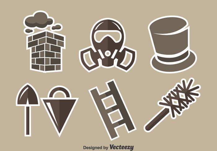 Chimney Sweep Element Vector Set