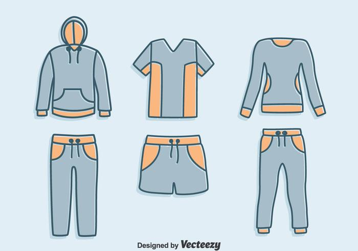 Hand Drawn Tracksuit Vector Set