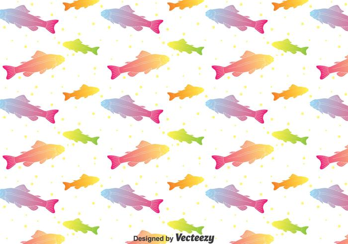 Rainbow Trout Seamless Pattern Vector