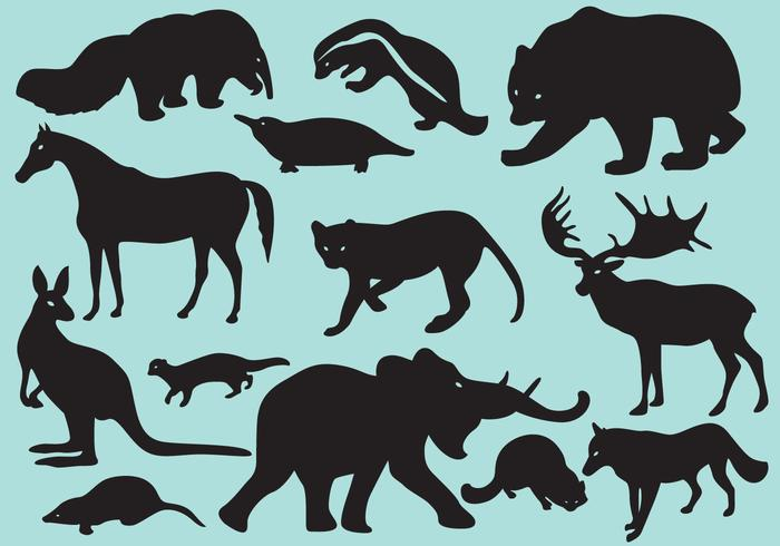 Wild Silhouette Säugetiere
