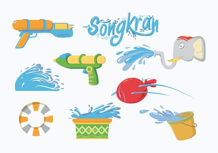 Vector libre de Songkran