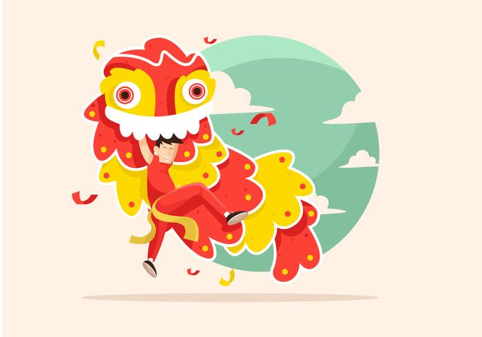 Lion Dance Vector