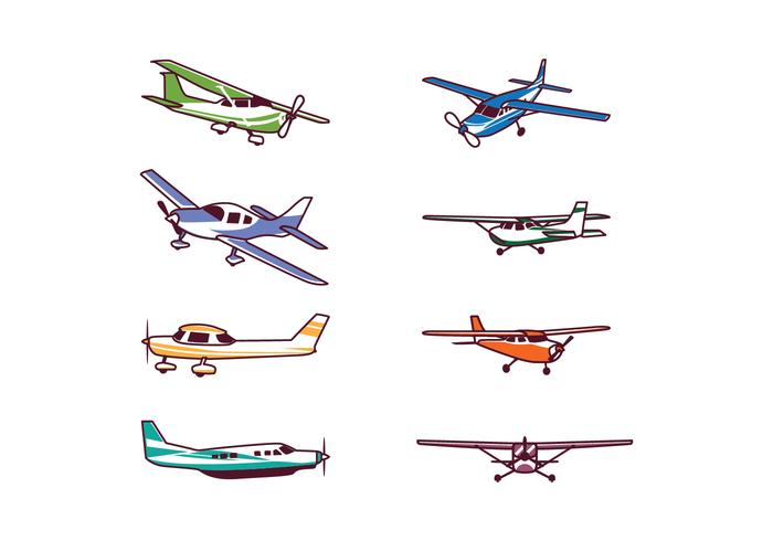 Free Cessna Airplane Vector Pack