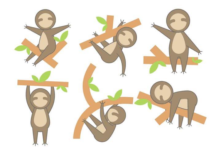 Free Cartoon Sloth Vector