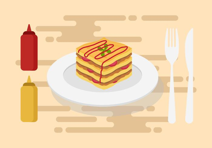 Free Lasagna Vector Illustration