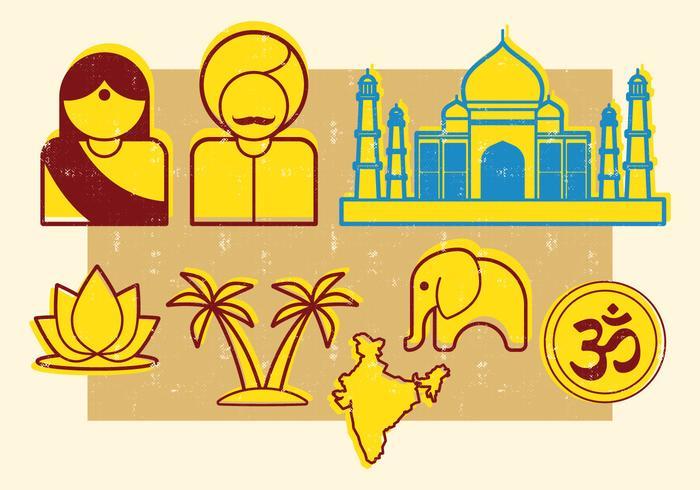 Indische Symbole vektor