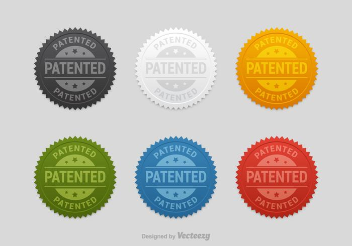 Free Patented Seals Vector Set