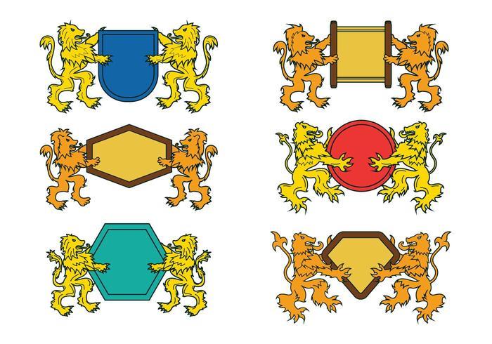 Vecteur rampant de lion
