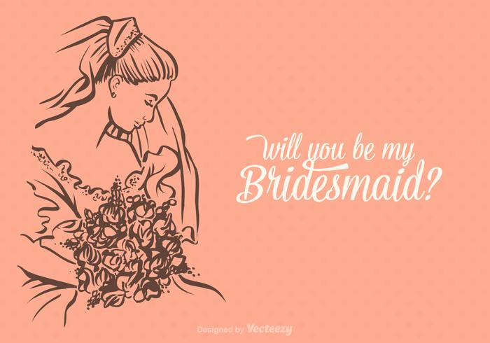Free Vector Will You Be My Bridesmaid