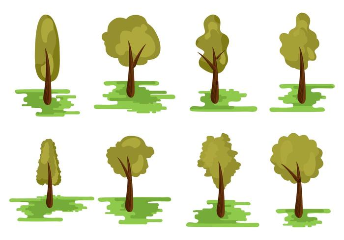 Free Different Kind of Tree Vector
