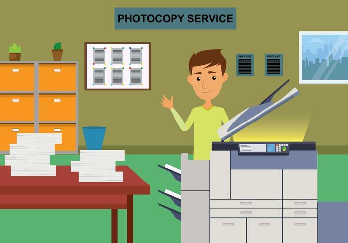 Ilustração gratuita de fotocopiadora
