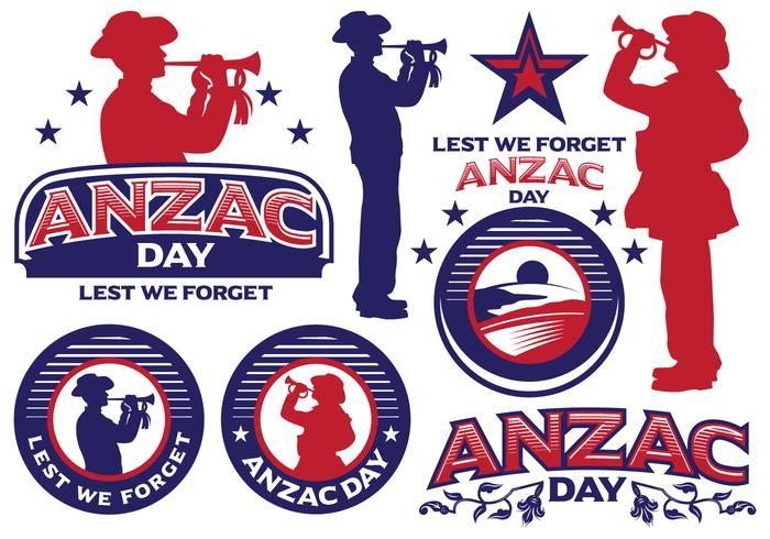 Anzac Day etiketter