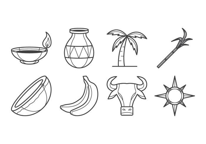 Free Pongal Icon Vector