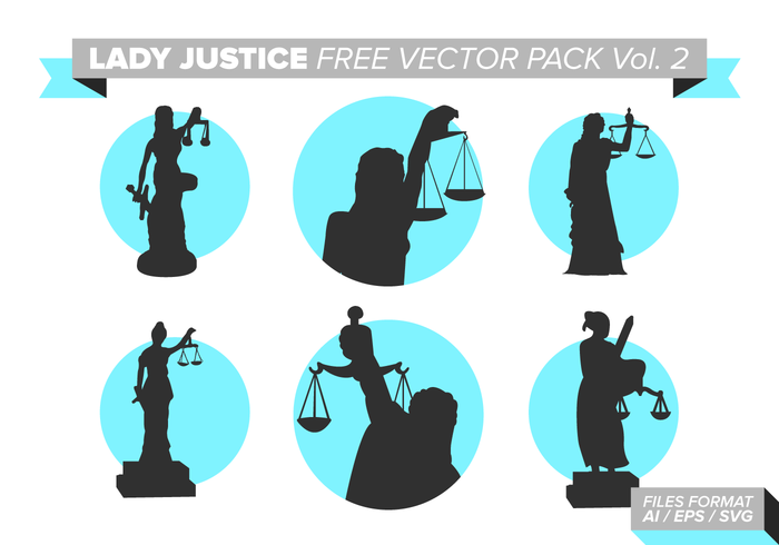 Lady Justice Gratis Vector Pack Vol. 2