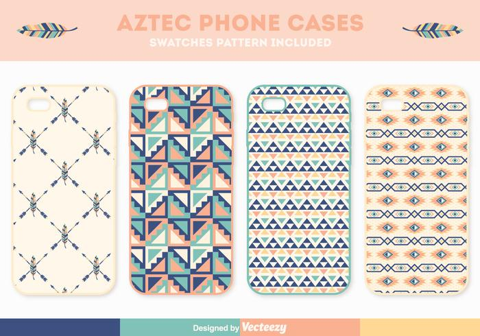 Free Aztec Phone Case Vector Set