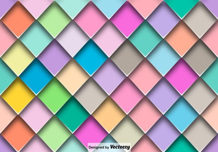 Vector Abstract Colorful Tiles Seamless Pattern