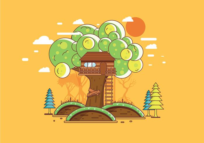Treehouse Vector
