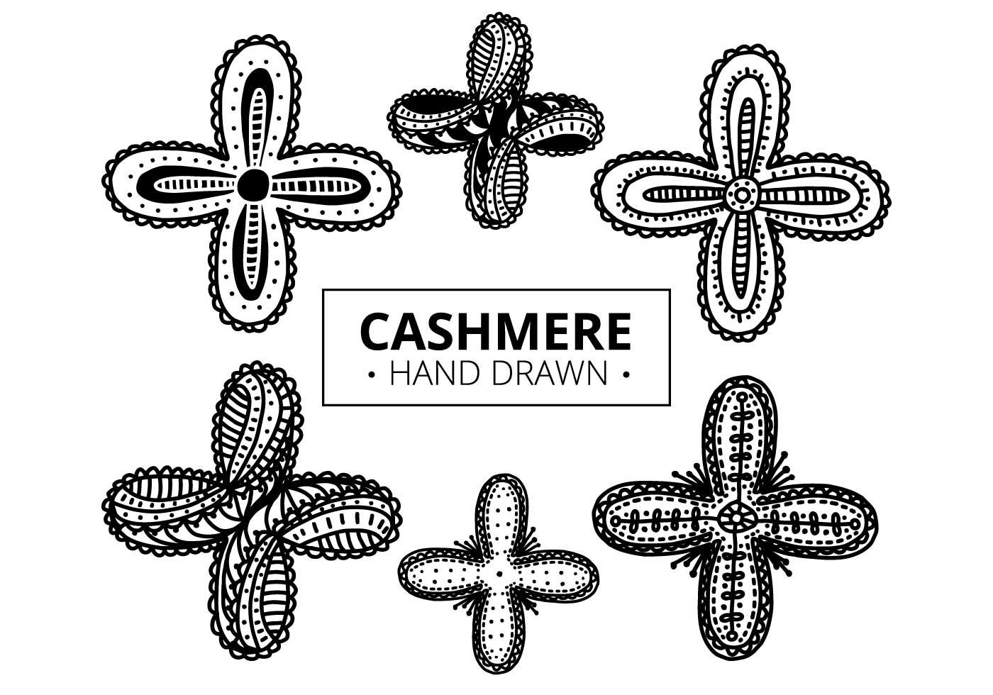 Patrón libre de cachemira - Descargue Gráficos y Vectores Gratis