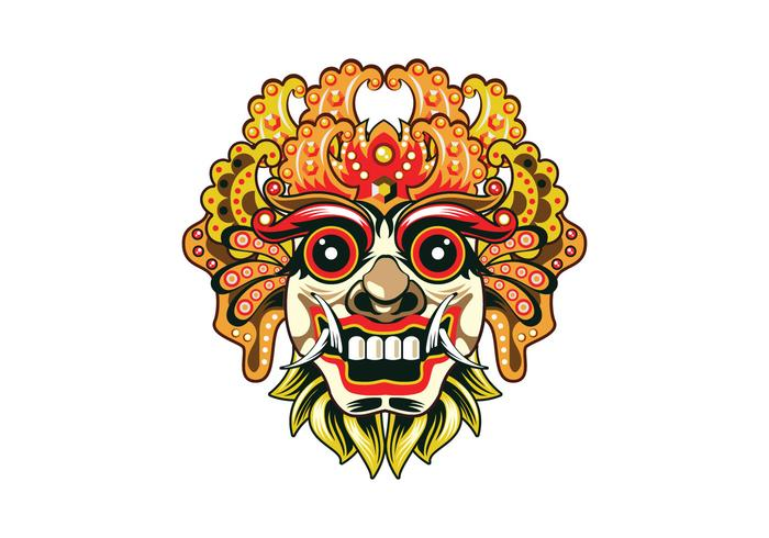 Vetor detalhado da máscara de Barong
