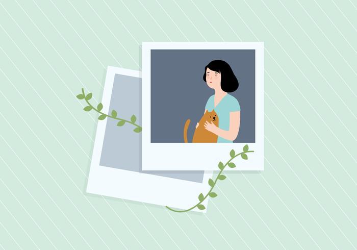 Girl Photo Illustration