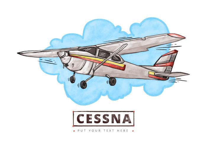 Fondo de acuarela de Cessna gratis vector