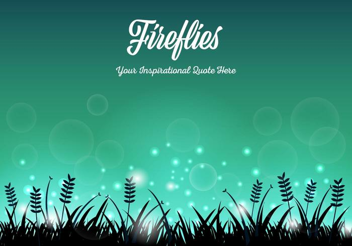Free Fireflies Background Vector