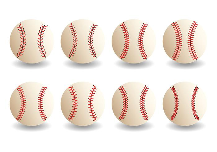 Gratis Baseball Lace Icons Vector