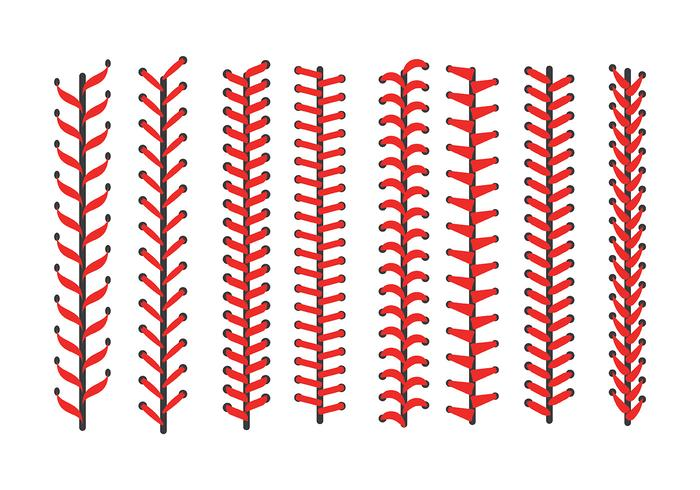 Baseball Laces icone vettoriali