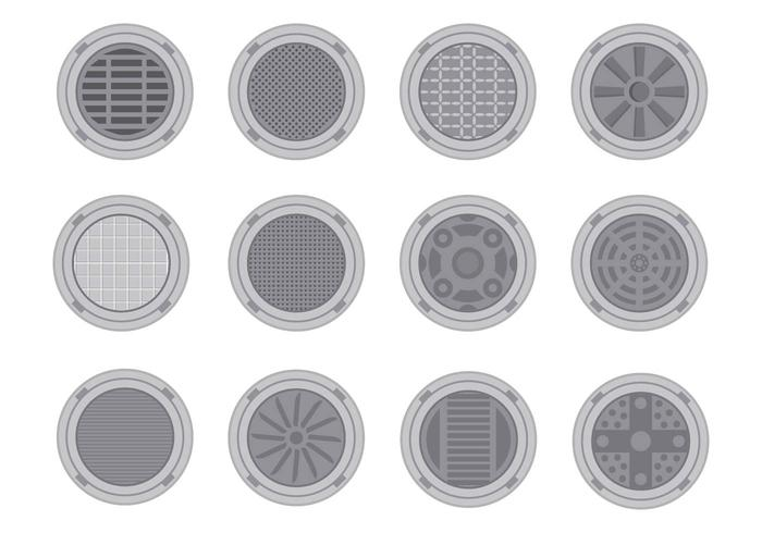 Free Manhole Cover Vector