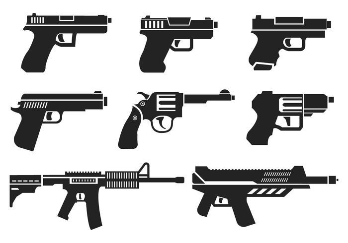 guns icons vector