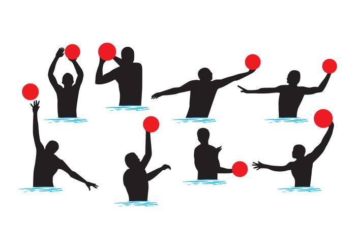 Free Water Polo Silhouettes Vector